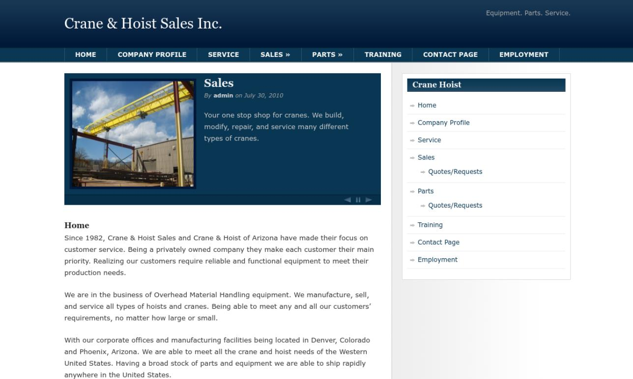 Crane & Hoist Sales, Inc.