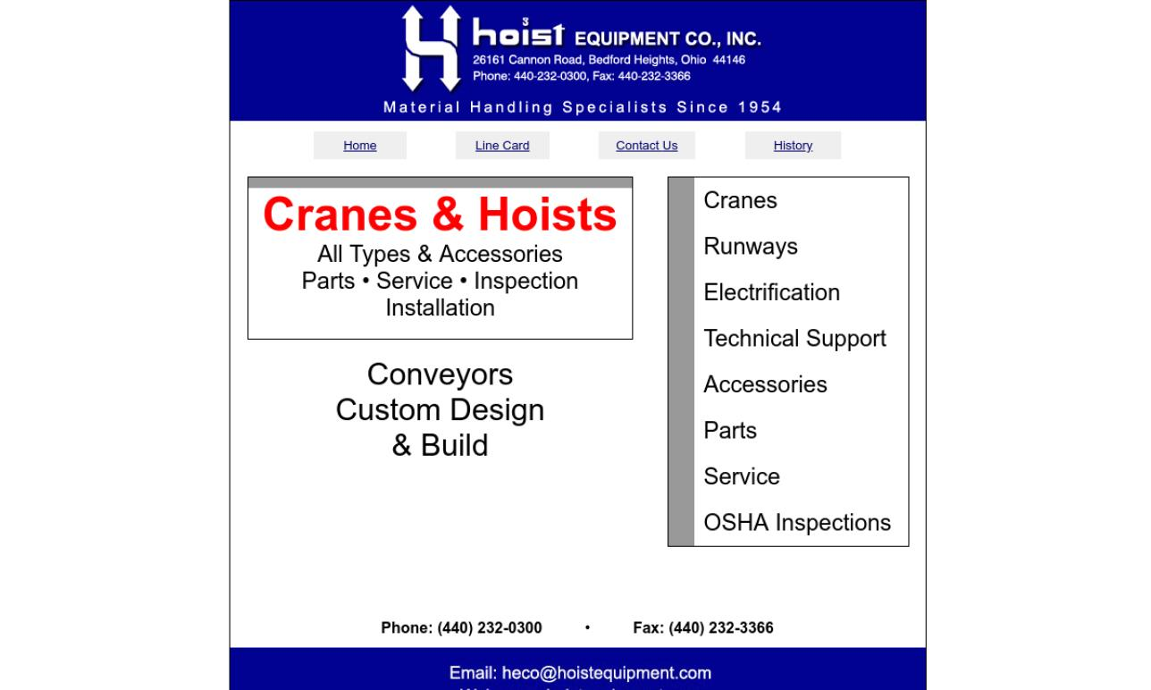 Hoist Equipment Co., Inc.