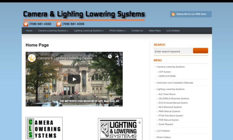 Camera and Lighting Lowering Systems